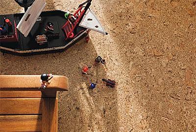 Korkboden im Spielzimmer