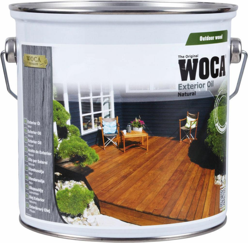 Woca Aceite De Exterior Para La Protección De Los Tablones De Madera Para Terraza Natural 2 5 L