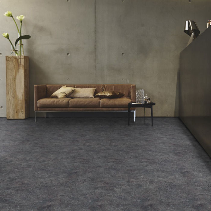 Tarkett Design Flooring Id Inspiration Click 55 Terrazzo Anthracite Tile 4v