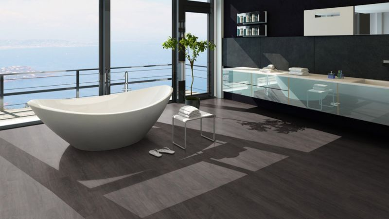 Skaben vinyl floor solid Life Click 55 antique oak grey 1-plank wideplank 4V click here
