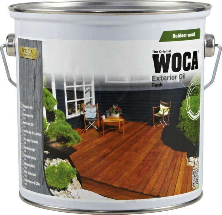 WOCA Exterior oil for protection of wooden decking - teak 2,5 L