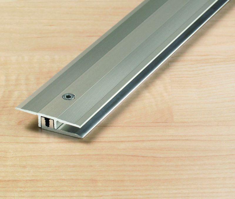 Übergangsprofil 34 mm Alu eloxiert Edelstahl Höhenausgleich 6,5 - 15 mm Länge 270 cm
