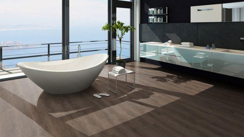 Skaben Vinyl Floor solid Life Click 55 Scarlet Oak dark natural 1-plank wideplank 4V click here