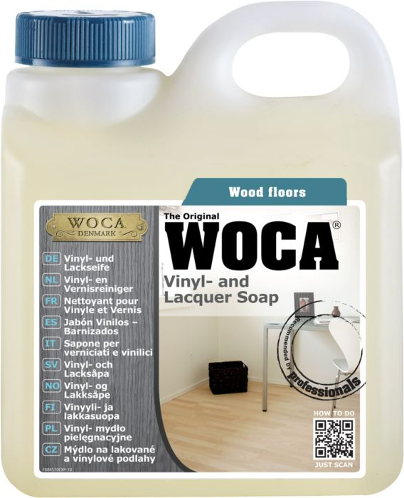 WOCA Laminate cleaner, Vinyl cleaner and Lacquer soap - natural 1 L