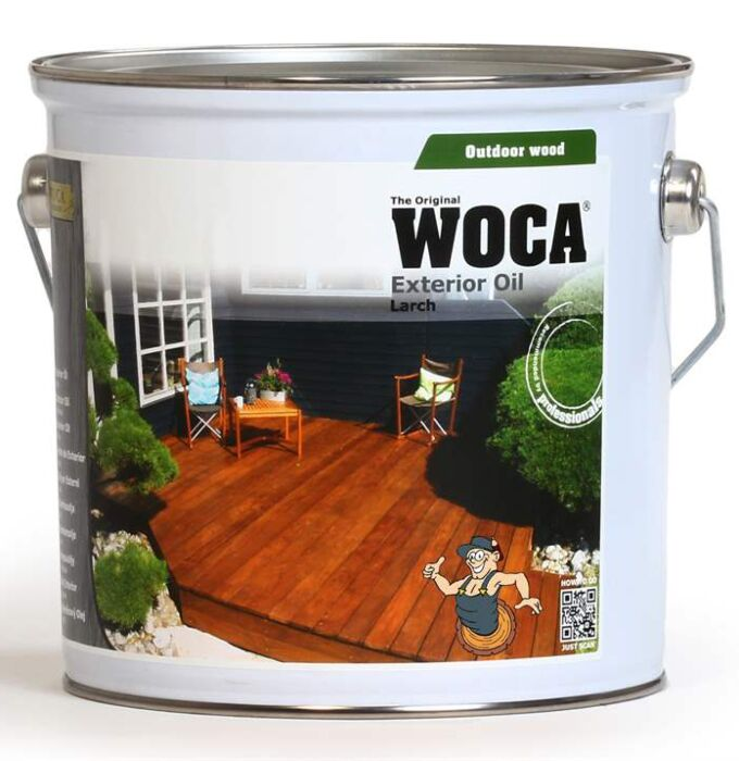 WOCA Exterior oil for protection of wooden decking - larch 2,5 L