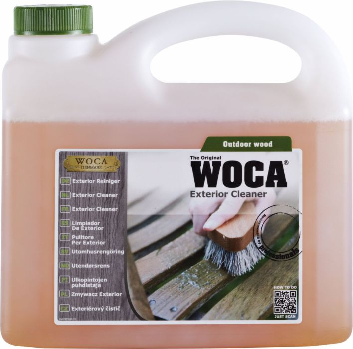 WOCA Limpiador de exteriores para la limpieza de superficies sucias y naturales 2,5 L