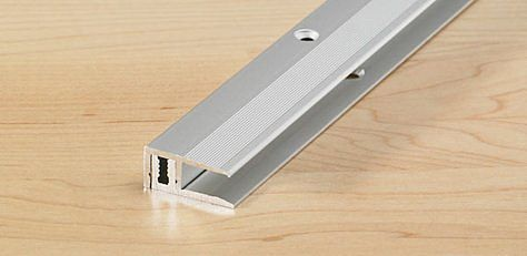 End profile 22 mm anodized aluminium stainless steel 6,5 -15 mm 100 cm