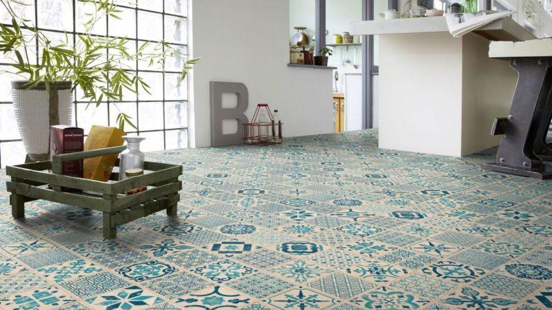 Parquet Suelo vinílico Piso estelar Click 30 Indigo Retro azulejo M4V
