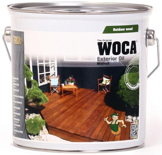 WOCA Aceite Exterior de Nogal para la protección de las tablas de la tarima de madera 2,5 L