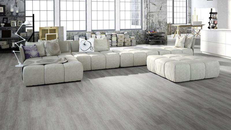 Skaben Vinyl Floor solid Life Click 55 Mountain Oak Grey 1-plank wideplank 4V to click
