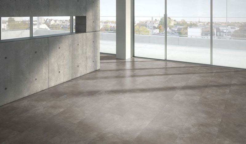 Parador Designboden Modular ONE Beton dunkelgrau Großfliese 4V Raum3