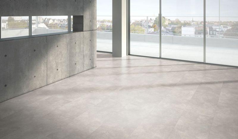 Parador Designboden Modular ONE Beton Ornament Weiss Großfliese 4V Raum3