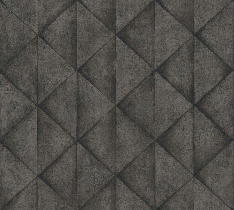 Skaben Tapete Stone Steintapete Weiß / Grau Raum1