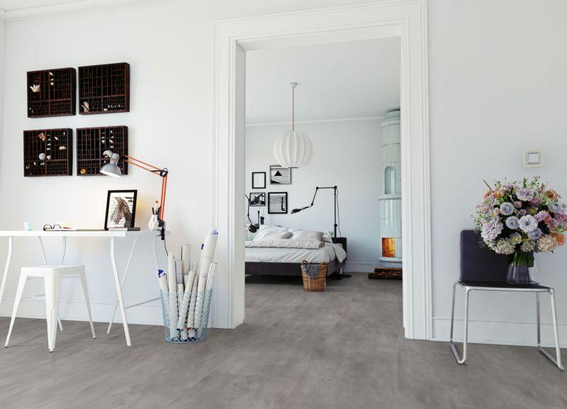 Skaben Vinylboden massiv Life 30 Beton Natürlich Fliese Raum3