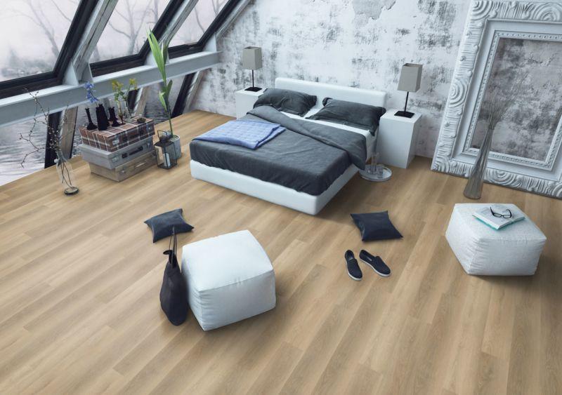 Skaben Vinylboden massiv Life 30 Eiche Weich Natürlich 1-Stab Landhausdiele Raum3
