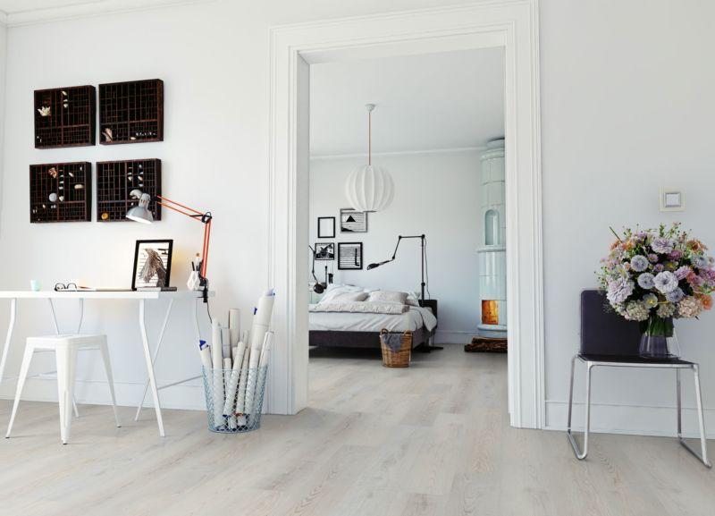 Skaben Vinylboden massiv Life 30 Meereiche Weiß 1-Stab Landhausdiele Raum3