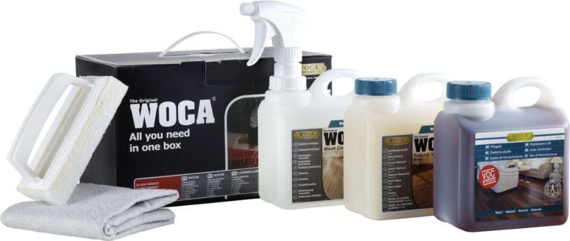 WOCA Pflegebox Öl Weiß für helle Böden