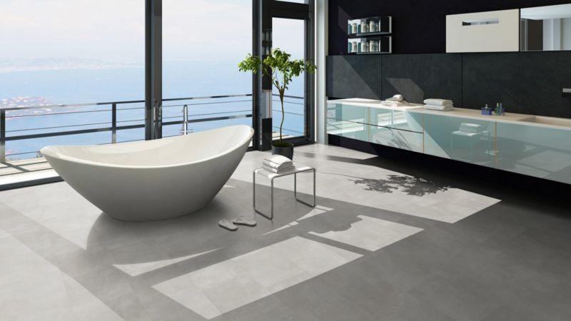 Skaben Design Rhino Click 55 Zement Perle Fliesenoptik 4V Trittschalldämmung