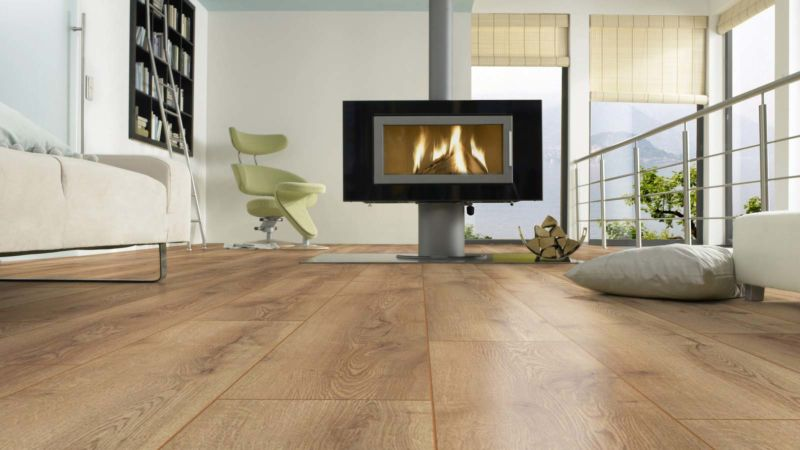 Skaben Laminat Wide Plus Mountain Oak Nature 1-strip wide plank 4V