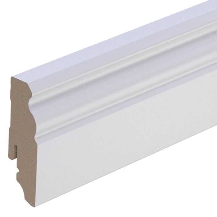 Brebo elegant white skirting Hamburg profile 6 cm height