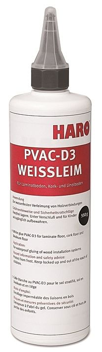 HARO PVAC-D3 White glue for laminate and cork flooring