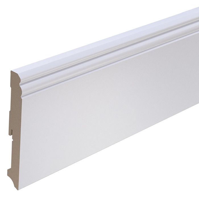 Brebo elegant white skirting Hamburg Profile 14 cm height