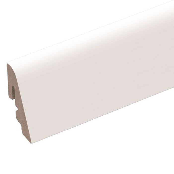 Brebo elegant white skirting round curved 4cm high