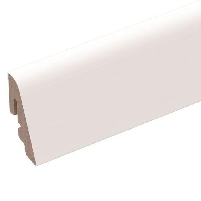 Brebo elegante weiße Sockelleiste rund geschwungen 4 cm hoch
