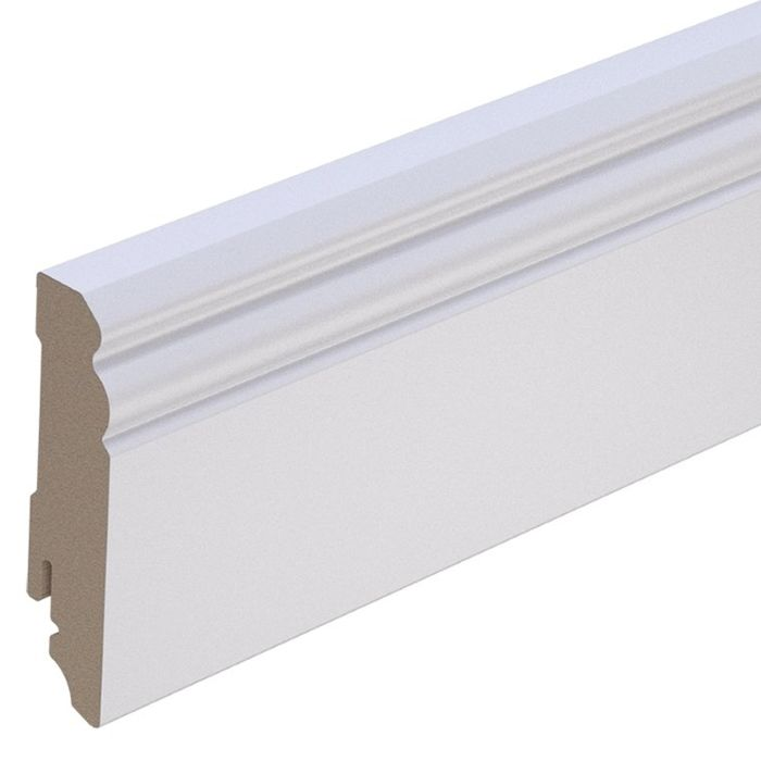 Brebo elegant white skirting Hamburg Profile 8 cm height