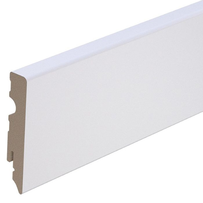 Brebo elegant white skirting 10 cm high lacquered