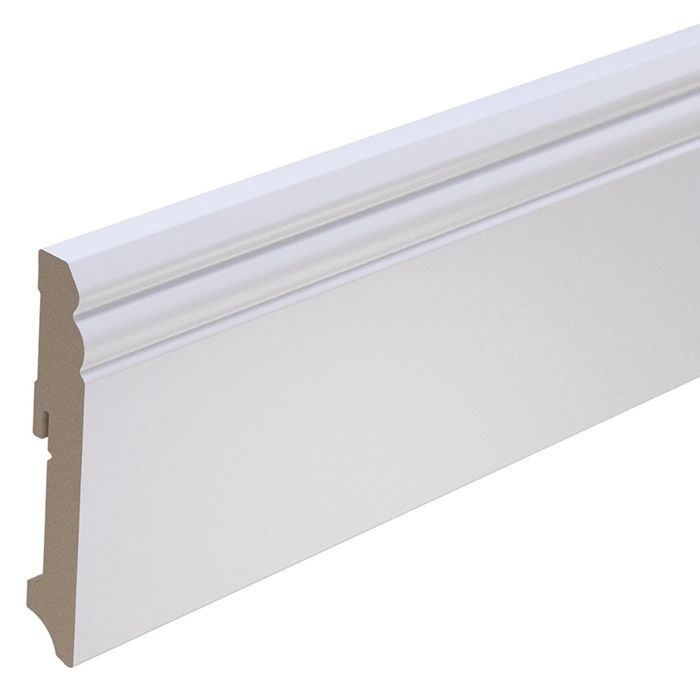 Brebo elegant white skirting Hamburg profile 12 cm height