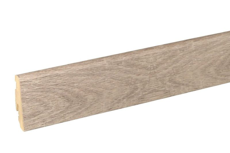 Matching skirting board 6 cm high oak rough sawn grey FOEI766 240 cm