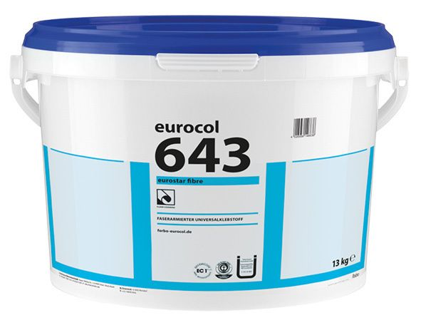 Forbo eurocol 643 Eurostar Fibre - fiber-reinforced adhesive for design and vinyl flooring 13 kg