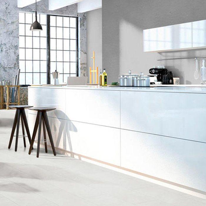 Classen Laminat Visiogrande Granit Weiss Fliese 4V zum klicken Erlebnismodus