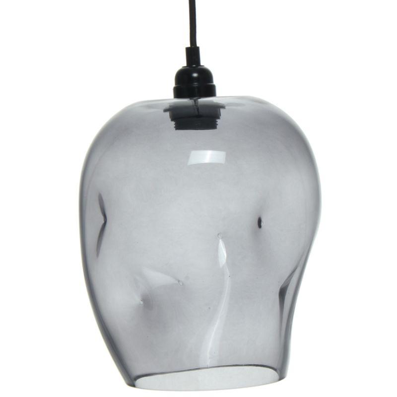 Hängelampe Abstract in Moderne Design in Farbe Grau aus Glas handgefertigt