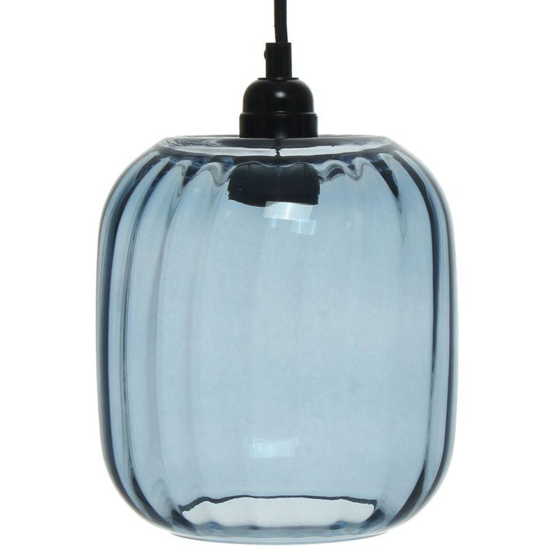 Hängelampe Bluebell in Moderne Design in Farbe Blau aus Glas handgefertigt