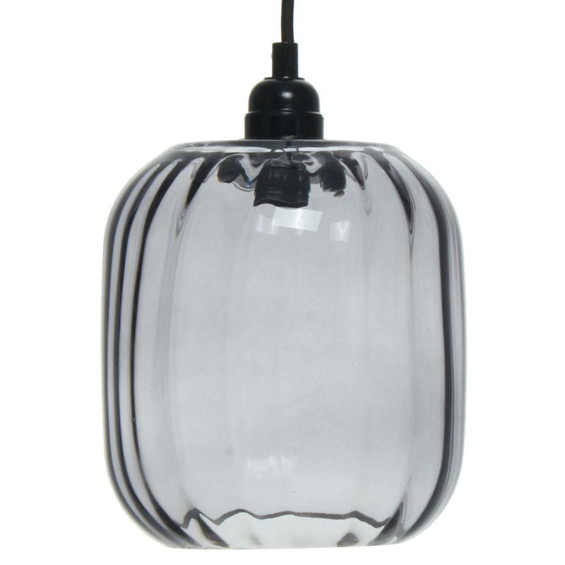 Hängelampe Bluebell in Moderne Design in Farbe Grau aus Glas handgefertigt