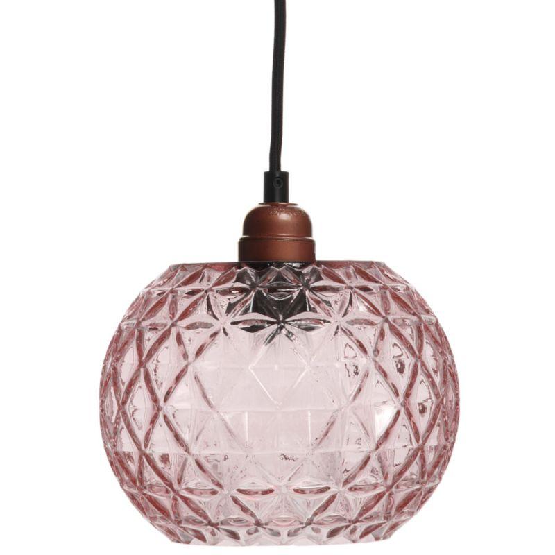 Hängelampe Carnation in Moderne Design in Farbe Rosa aus Glas handgefertigt