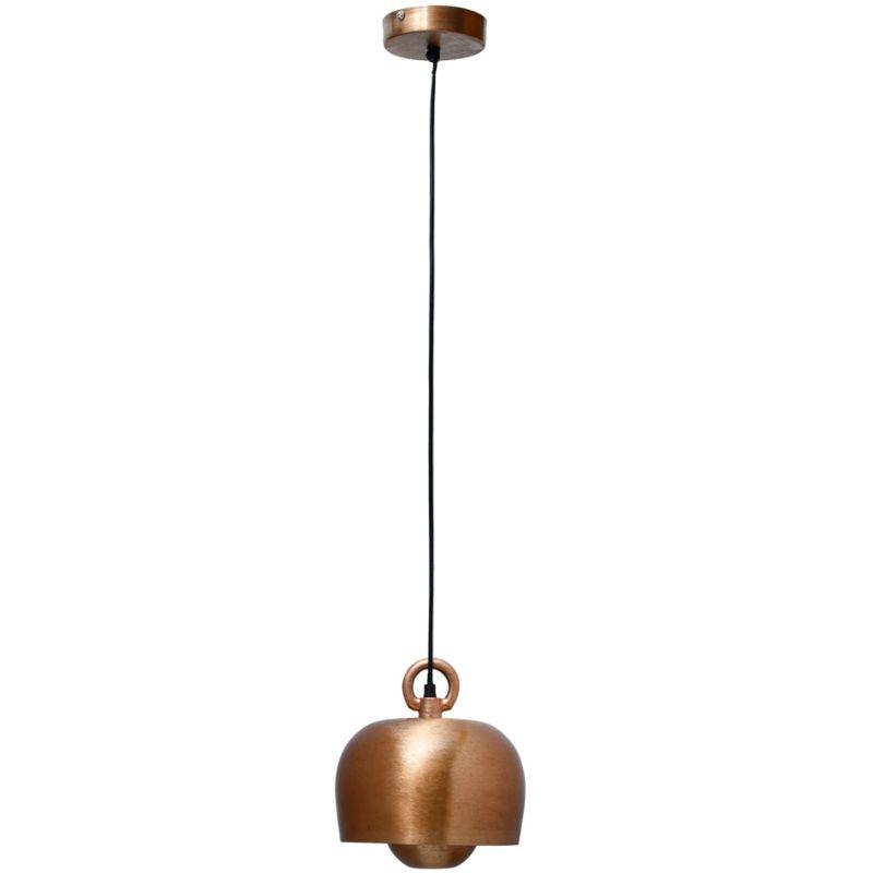Hängelampe Iron in Industrial Design in Farbe Kupfer aus Eisen handgefertigt 20,5cm