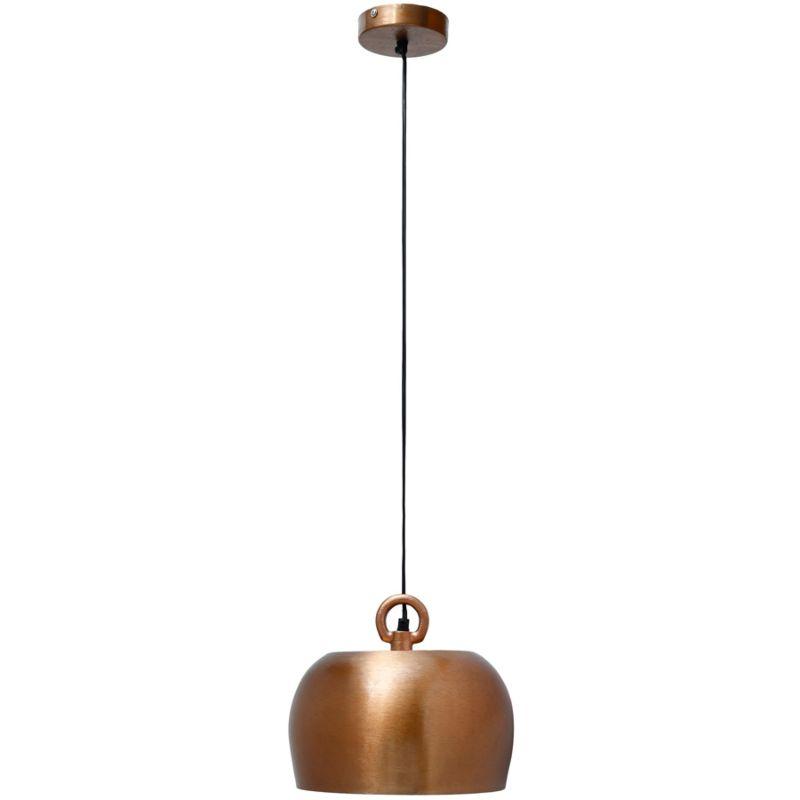 Hängelampe Iron in Industrial Design in Farbe Kupfer aus Eisen handgefertigt 28cm