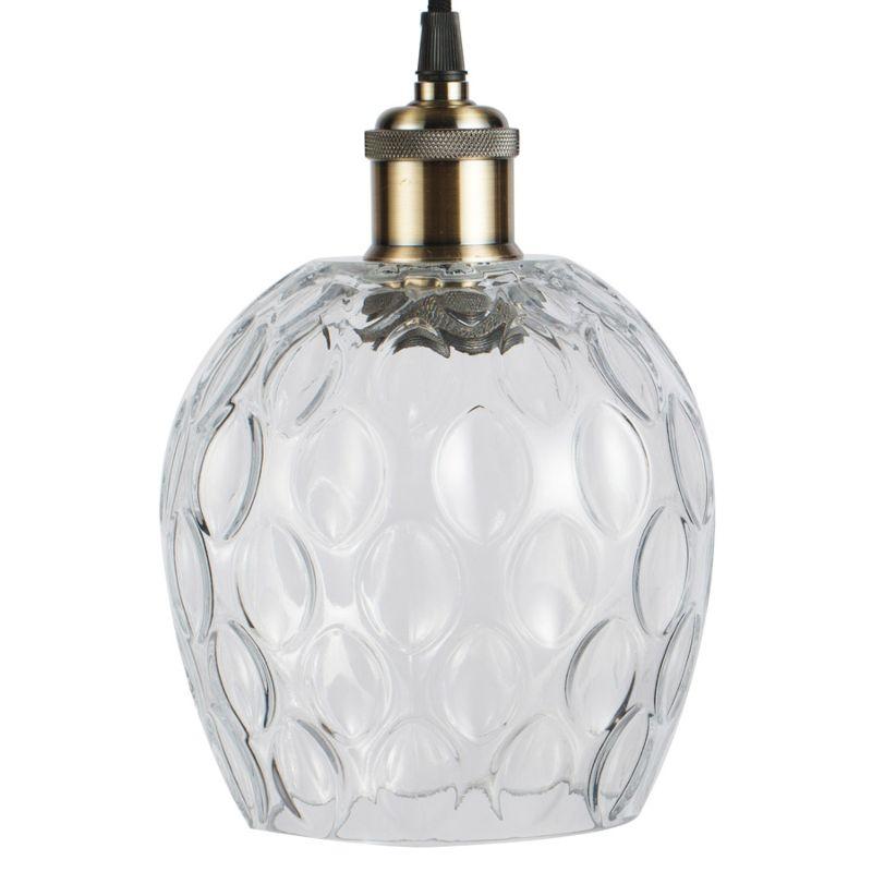 Hängelampe Lilac in Moderne Design in Farbe Transparent aus Glas handgefertigt