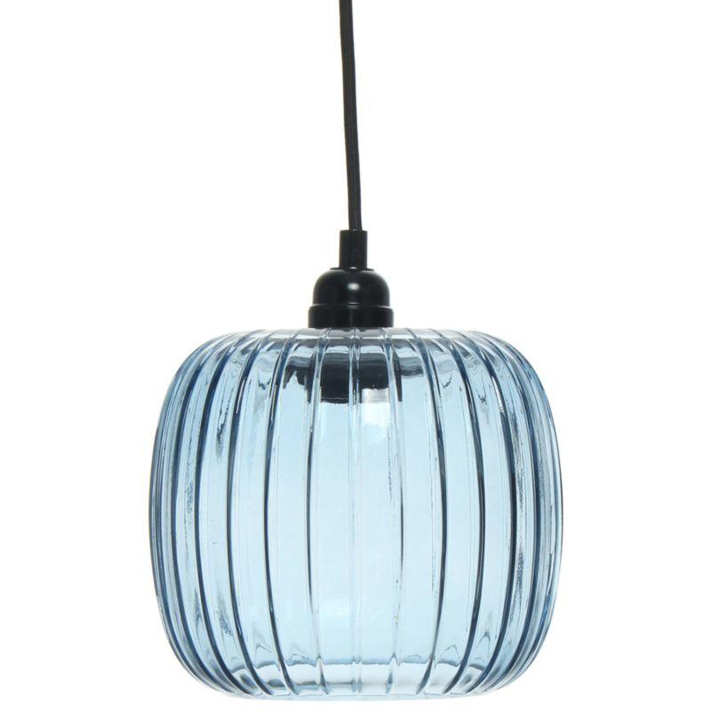 Hängelampe Peony in Moderne Design in Farbe Blau aus Glas handgefertigt