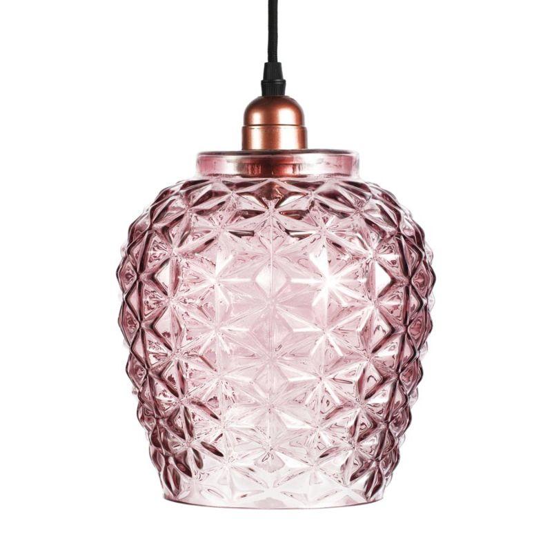 Hängelampe Periwinkle in Moderne Design in Farbe Violett aus Glas handgefertigt