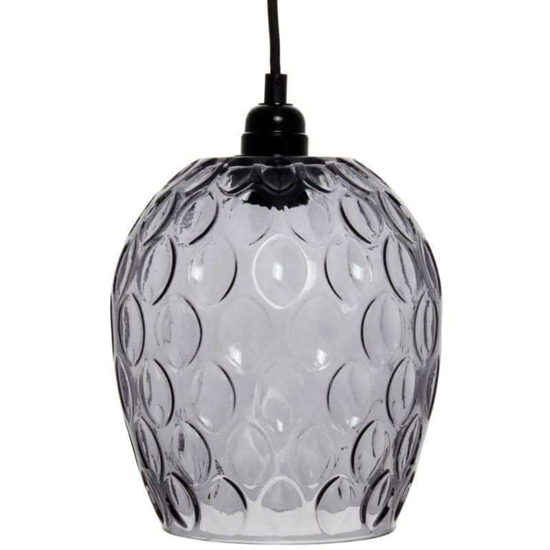 Hängelampe Season in Moderne Design in Farbe Grau aus Glas handgefertigt