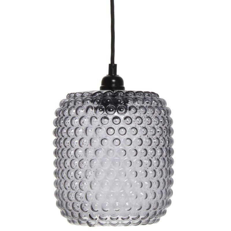 Hängelampe Waterlily in Moderne Design in Farbe Grau aus Glas handgefertigt