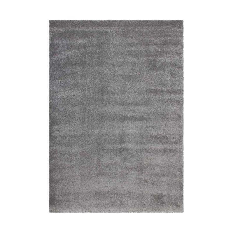 Hochflorteppich Silber Grau CLASSIC rechteckig Höhe 23 mm