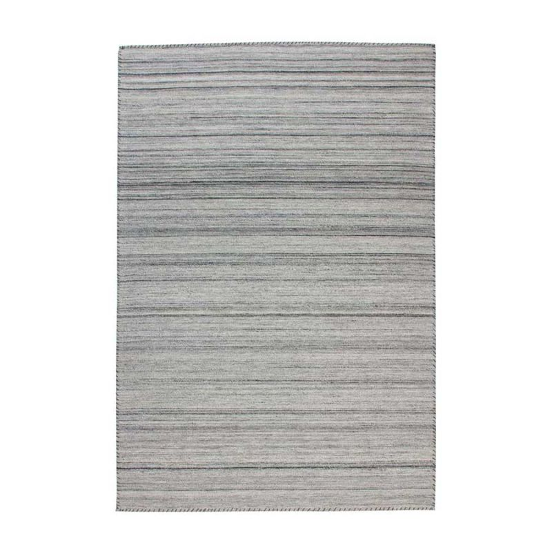 Jacquard-Teppich Grau Dunkelgrau GESTREIFT rechteckig Höhe 6 mm