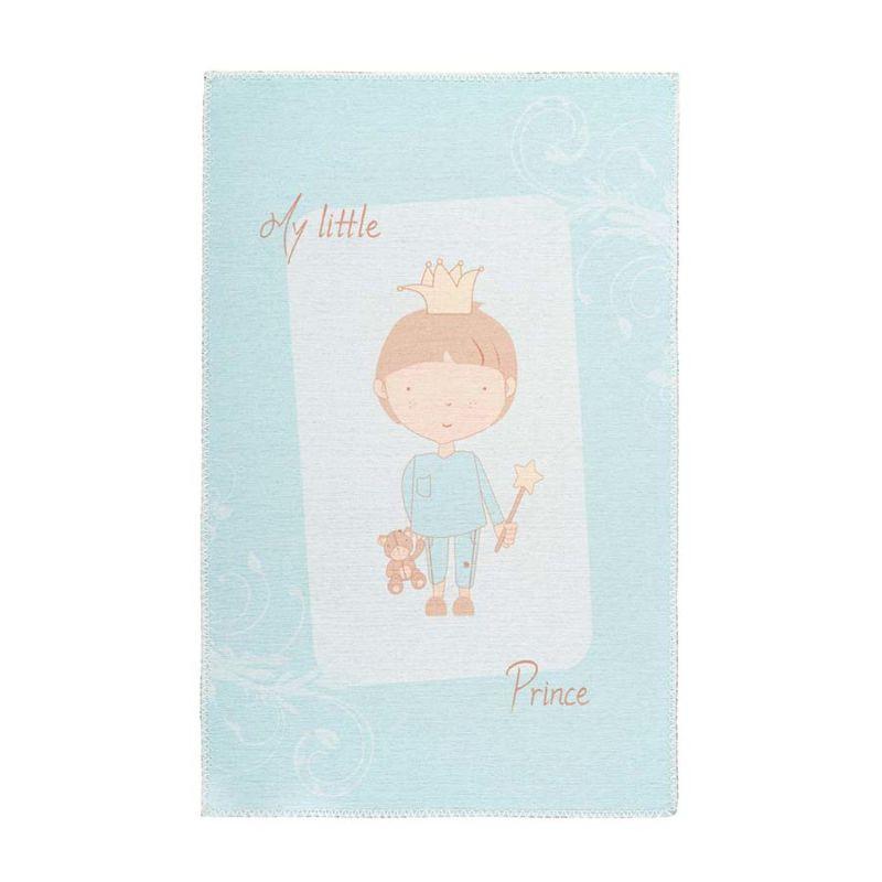 Kinderteppich Blau Mint KLEINER PRINZ rechteckig Höhe 5 mm