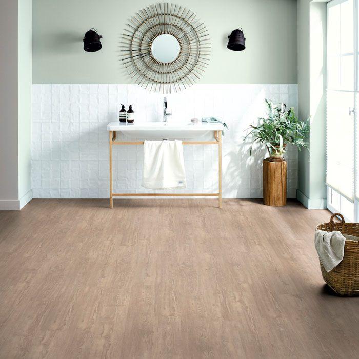 Schöner Wohnen Designboden Aqua Komfort Fichte Ecru 1-Stab Landhausdiele M4V