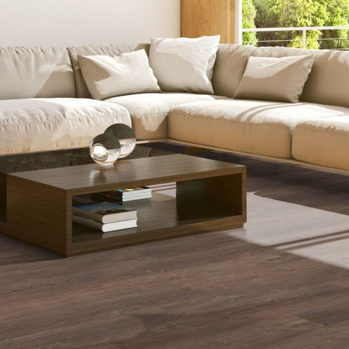 Skaben Design Rhino Click 55 smart Spanish oak dark brown 1-plank wideplank 4V footfall sound insulation
